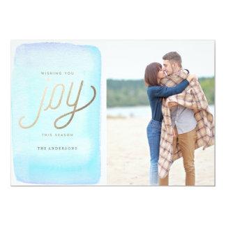 WISHING YOU JOY photo christmas greeting card 13 Cm X 18 Cm Invitation Card