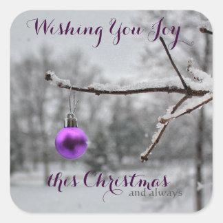 Wishing You Joy This Christmas Stickers