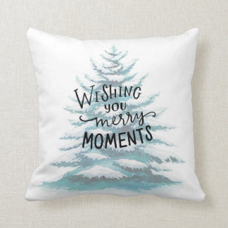 wishing you merry moments cushion