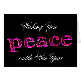 Wishing you peace in the new year card