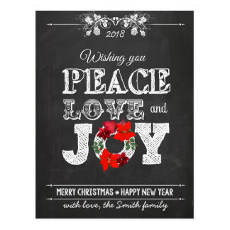 Wishing you peace love and Joy Postcard