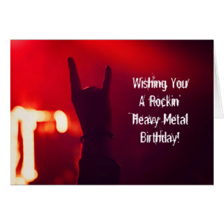 Wishing You Rockin' Heavy Metal Rock Birthday Card