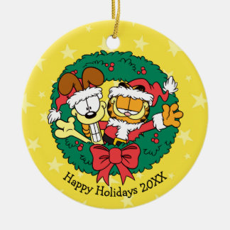 Wishing You the Best of the Season Round Ceramic Decoration