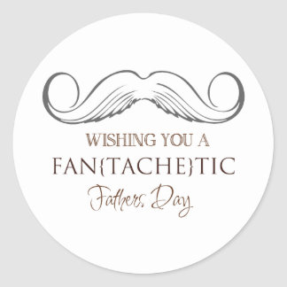Wishing you to fan [erases] tic Father's Day Classic Round Sticker