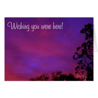 Wishing you were here! card