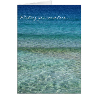 Wishing You Were Here Card, envelopes included Card
