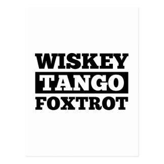 Wiskey Tango Foxtrot Postcard