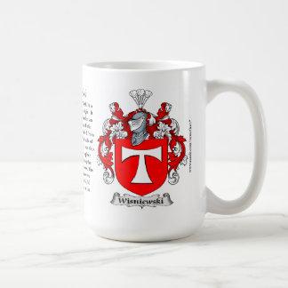 Wisniewski, the Origin, the Meaning and the Crest Basic White Mug