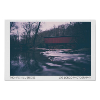 WISSAHICKON CREEK Collection - Thomas Mill Bridge Poster