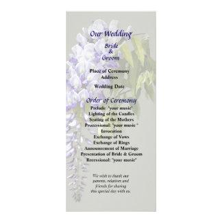 Wisteria and Leaves Wedding Program Rack Card