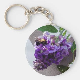 Wisteria & Bee Key Ring