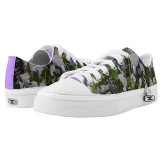 Wisteria Big Flowers Zipz Low Top Shoes