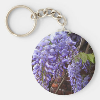 Wisteria blossoms key ring