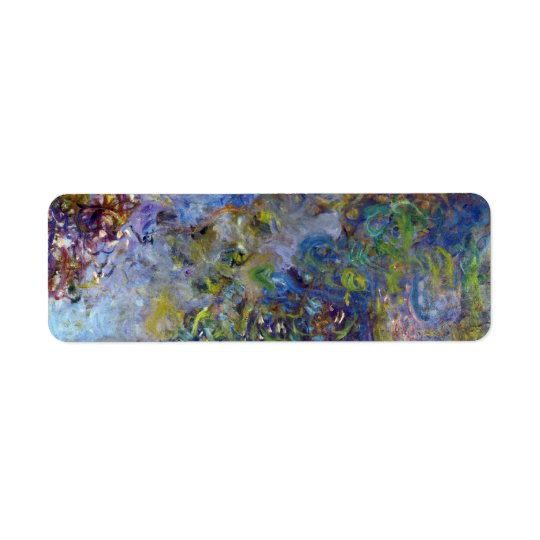 Wisteria by Claude Monet, Vintage Impressionism Return Address Label