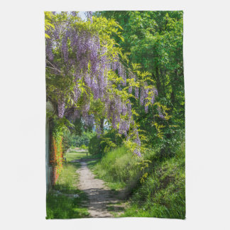 Wisteria country lane kitchen towel
