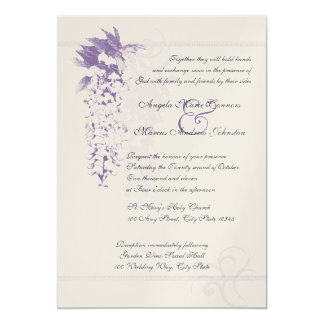 Wisteria Floral Wedding Card