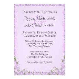 "Wisteria Flowers Wedding Invitation 5"" X 7"" Invitation Card"
