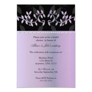 Wisteria Leaf Border Bridal Shower Invitation