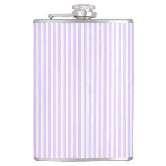 Wisteria Lilac Lavender Orchid & White Stripe Flask