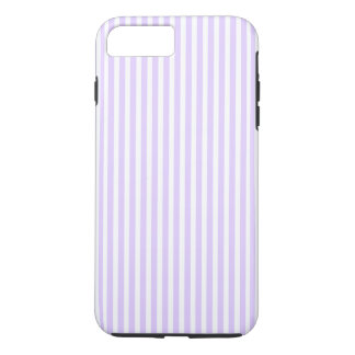 Wisteria Lilac Lavender Orchid & White Stripe iPhone 8 Plus/7 Plus Case