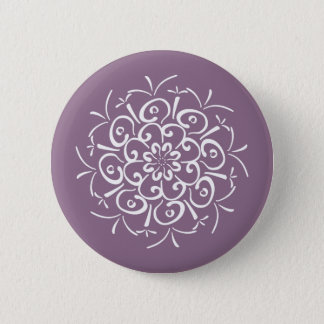 Wisteria Mandala 6 Cm Round Badge