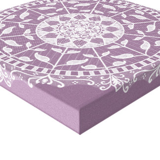 Wisteria Mandala Canvas Print