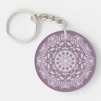 Wisteria Mandala Key Ring