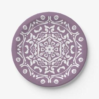 Wisteria Mandala Paper Plate