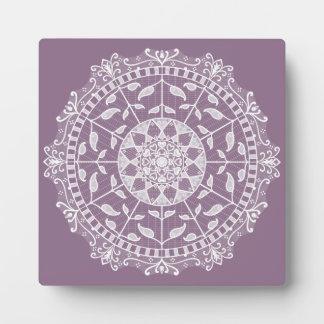 Wisteria Mandala Plaque
