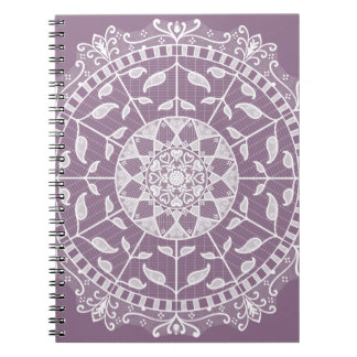 Wisteria Mandala Spiral Notebook