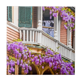 Wisteria on a Vintage Southern  Home in Savannah Tile