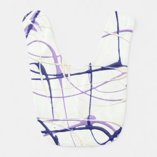 Wisteria Purple Paint Splatter Baby Bib