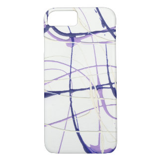 Wisteria Purple Paint Splatter iPhone / iPad Case