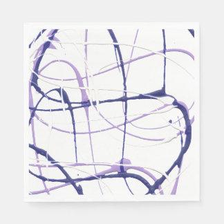 Wisteria Purple Paint Splatter Napkins Disposable Serviette