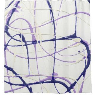 Wisteria Purple Paint Splatter Shower Curtain