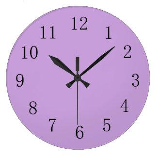 Wisteria Purple Solid Color Clock