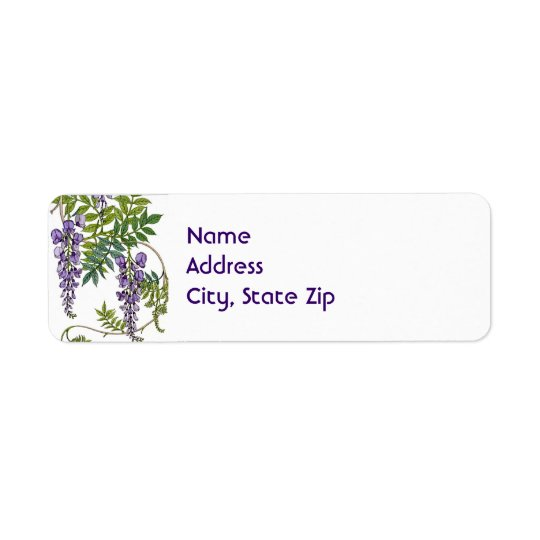 Wisteria Return Address Label