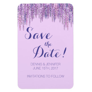 Wisteria Save The Date Magnet