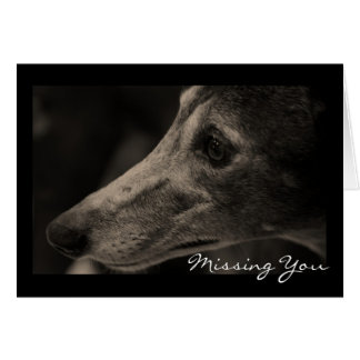 Wistful Greyhound Love Customizable Card