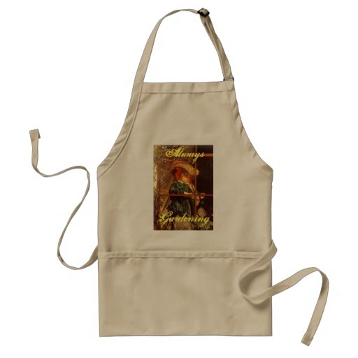 Wistful Victorian Peering Out Window Outdoors Apron