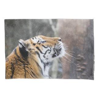 Wistful Winter Tiger Pillowcase