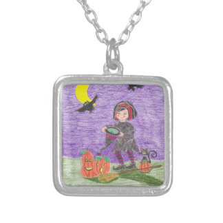 Witch 3 necklace square pendant necklace