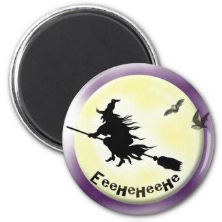 Witch 6 Cm Round Magnet