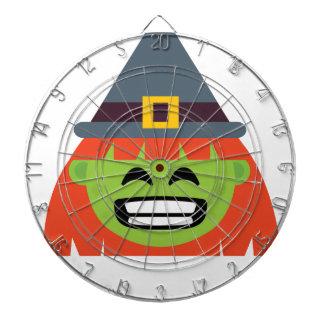 witch All Emoji Halloween Dartboard