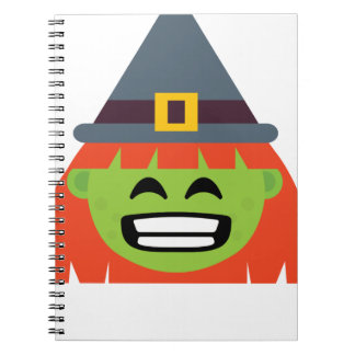 witch All Emoji Halloween Notebook