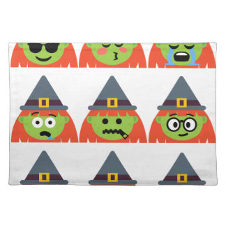 witch All Emoji Halloween Placemat