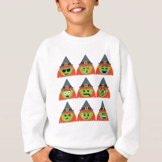 witch All Emoji Halloween Sweatshirt