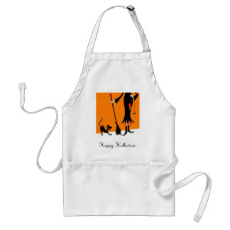 Witch and Black Cat Apron