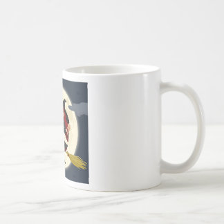 Witch And Black Cat Image Coffee Mugs