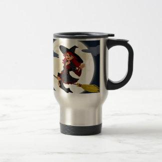 Witch And Black Cat Image Coffee Mug